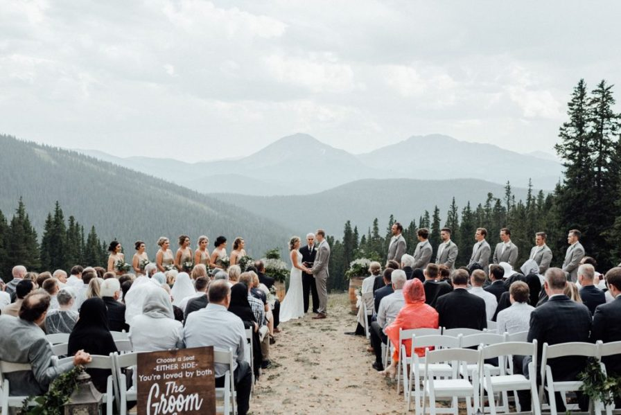 Timber Ridge wedding ceremony, Keystone wedding