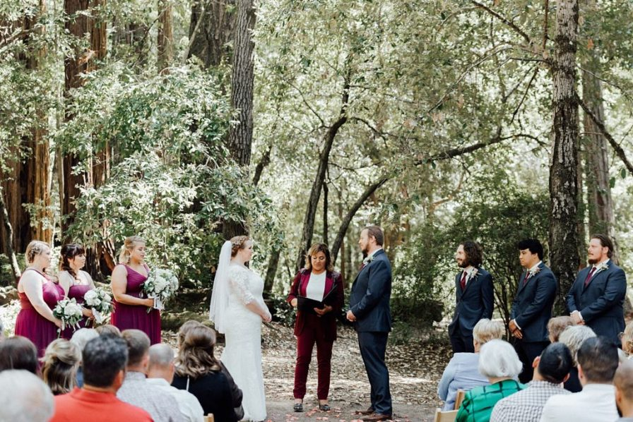 Big Basin Redwoods wedding ceremony
