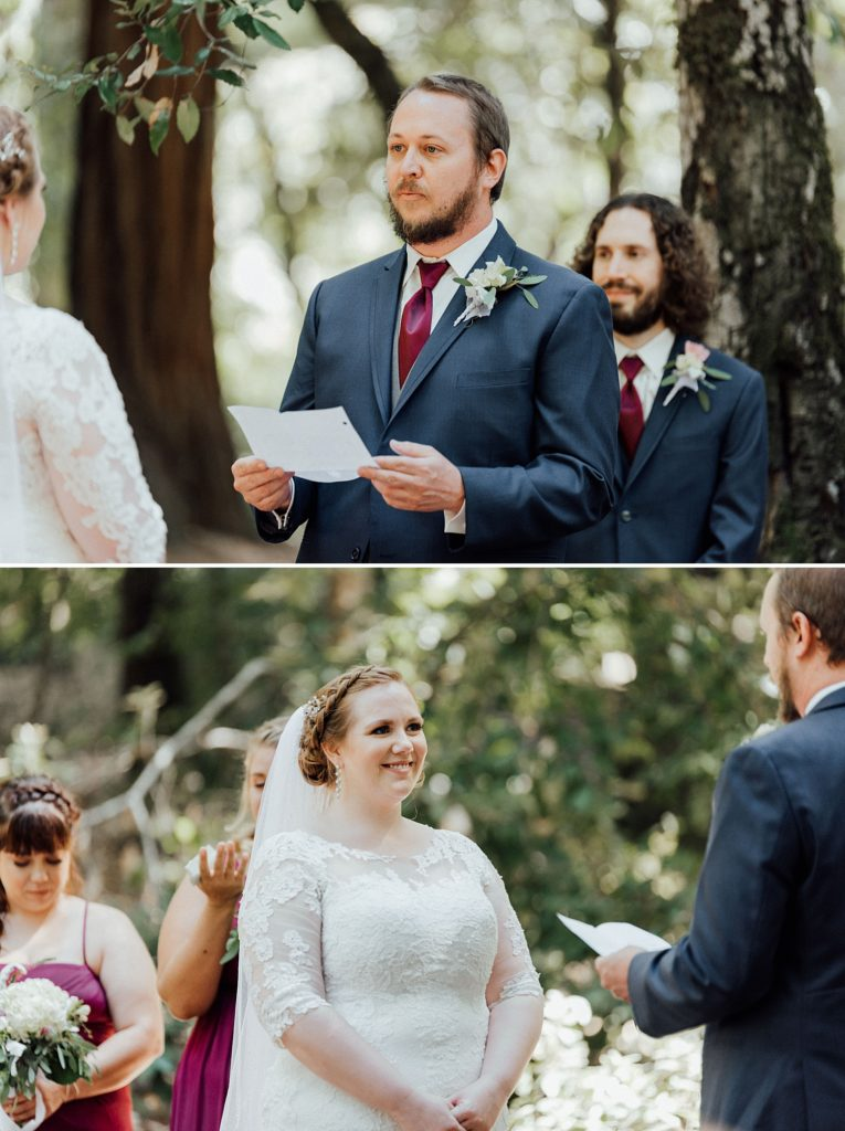 Redwoods forest wedding ceremony