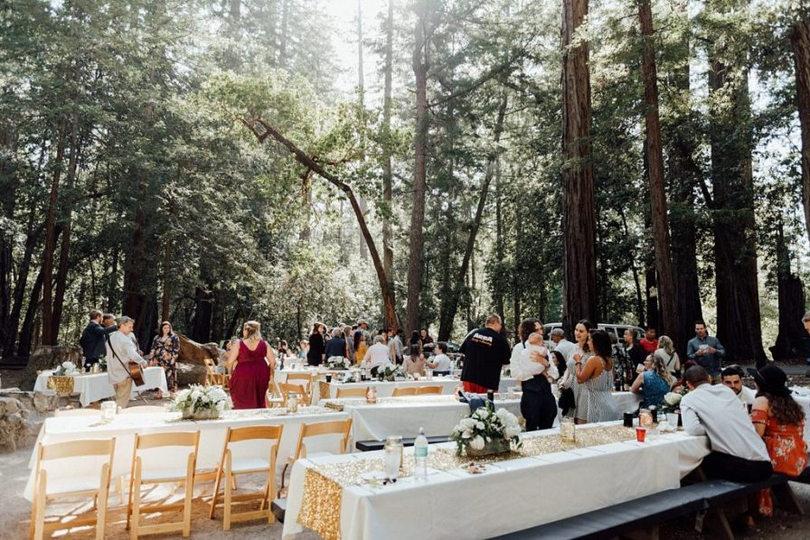 Camping wedding ideas, California Redwoods wedding