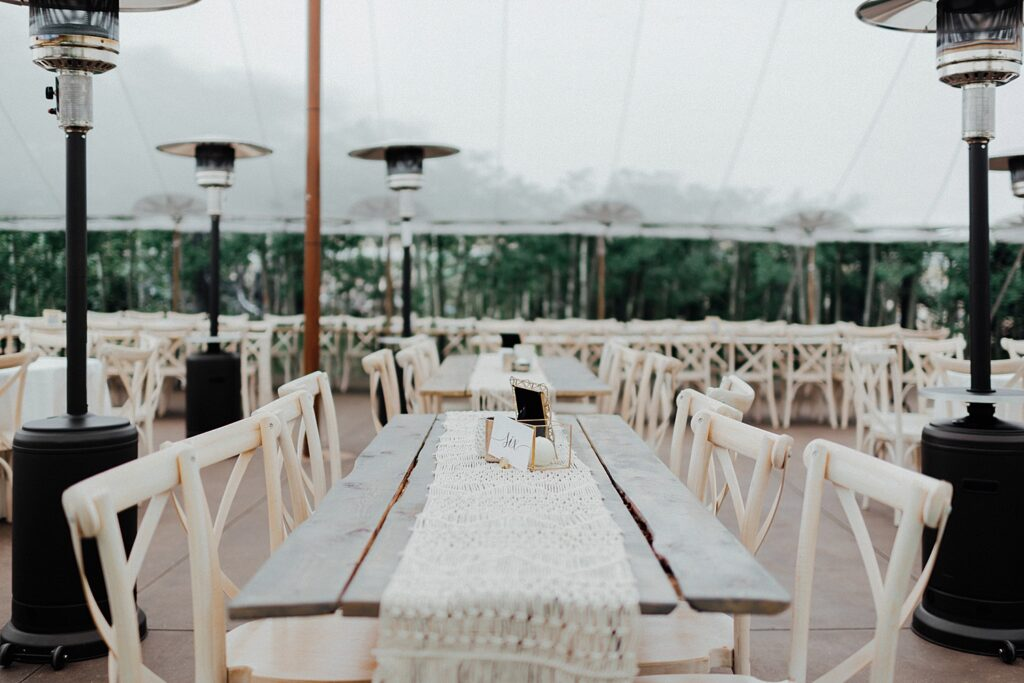 Boho inspired wedding decor