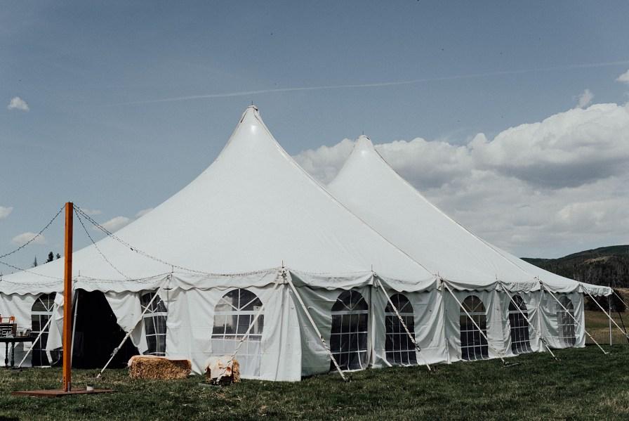 White reception tent