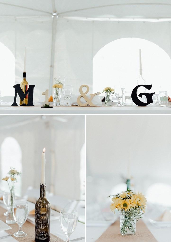 Navy and gold wedding theme, rustic wedding theme, head table ideas, DIY wedding decor