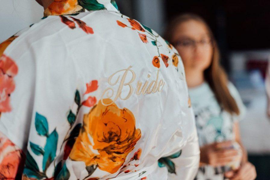 Bride wedding robe