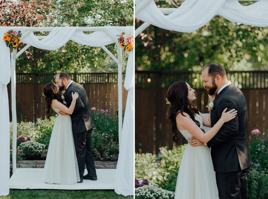 Wedding arch ideas, backyard wedding ideas