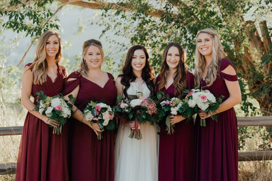 Bridesmaid dress ideas, bridesmaid dress colors, cranberry bridesmaid dresses