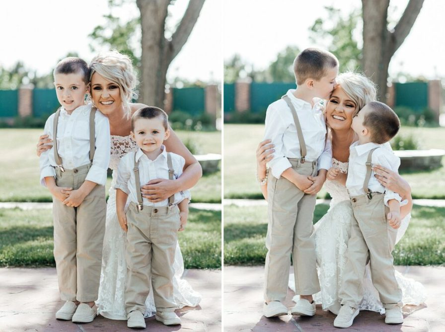 Ring bearer, ring bearer outfit ideas, khaki ring bearer pants and suspenders