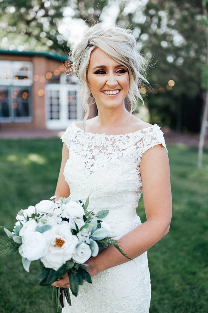 Bridal portraits, wedding dress ideas, high collar wedding dress, wedding bouquet ideas, wedding hair ideas, wedding hairstyle ideas, wedding hairstyles, wedding makeup, wedding makeup ideas, wedding smokey eye makeup