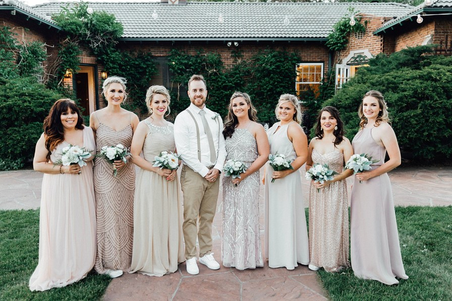 Groom and bridesmaid photo ideas