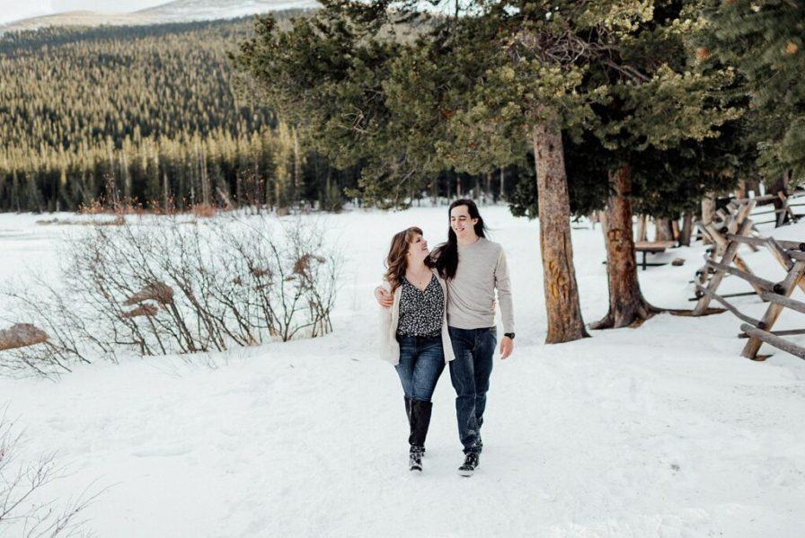Engagement photos at Echo Lake Park in Idaho Springs