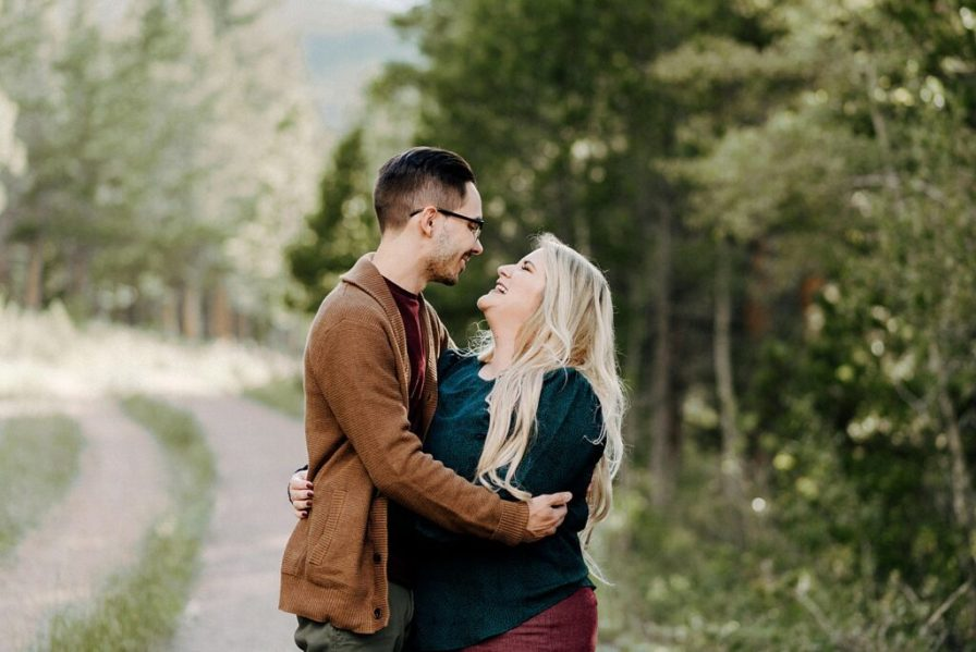Lily Lake engagement photos