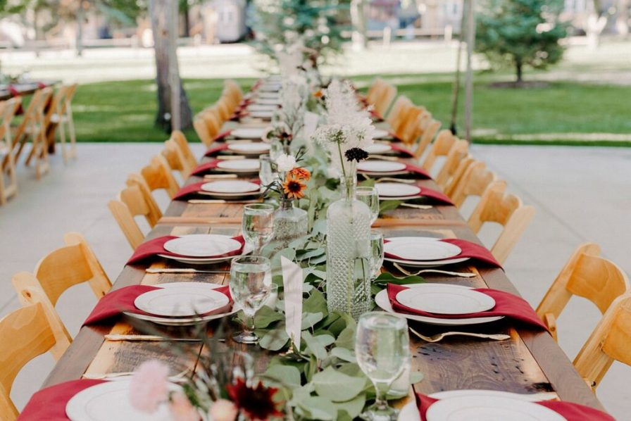 family style wedding reception tables