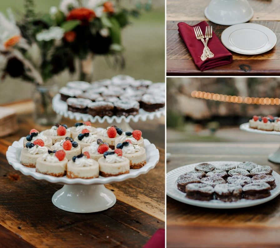 wedding dessert table ideas, wedding brownies