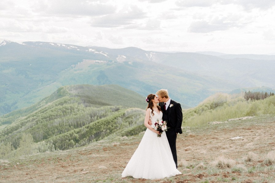 views from the vail mountain wedding deck