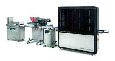 One Shot Depositor Chocolate Production Line | Pomati Chocolatier Equipment