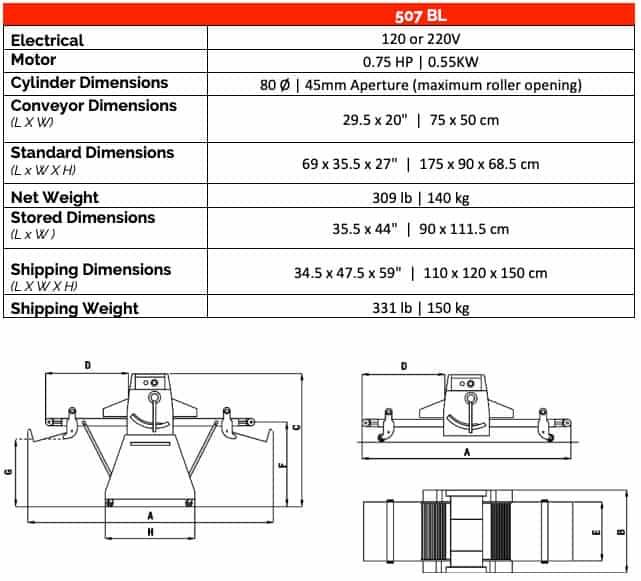 Mecnosud SB500 | Reversible Bench Sheeter