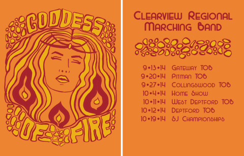 Goddess of Fire T-Shirt Design Erika Schnatz