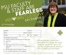 #GivingTuesday Faculty and Staff Postcard Erika Schnatz