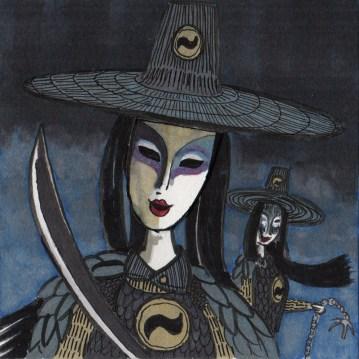 Inktober 04: That Masked Horror