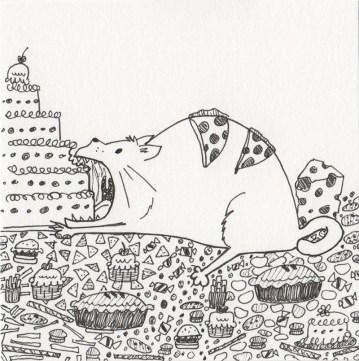 Inktober 14: Gluttony (Seven Deadly Sins)