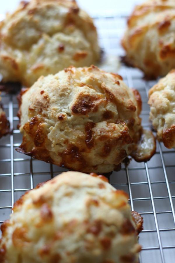 Cheddar Cheese Scones close-up | www.erikasglutenfreekitchen.com