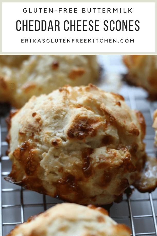 Gluten-free Cheddar Cheese Scones | Erika's Gluten-free Kitchen www.erikasglutenfreekitchen.com