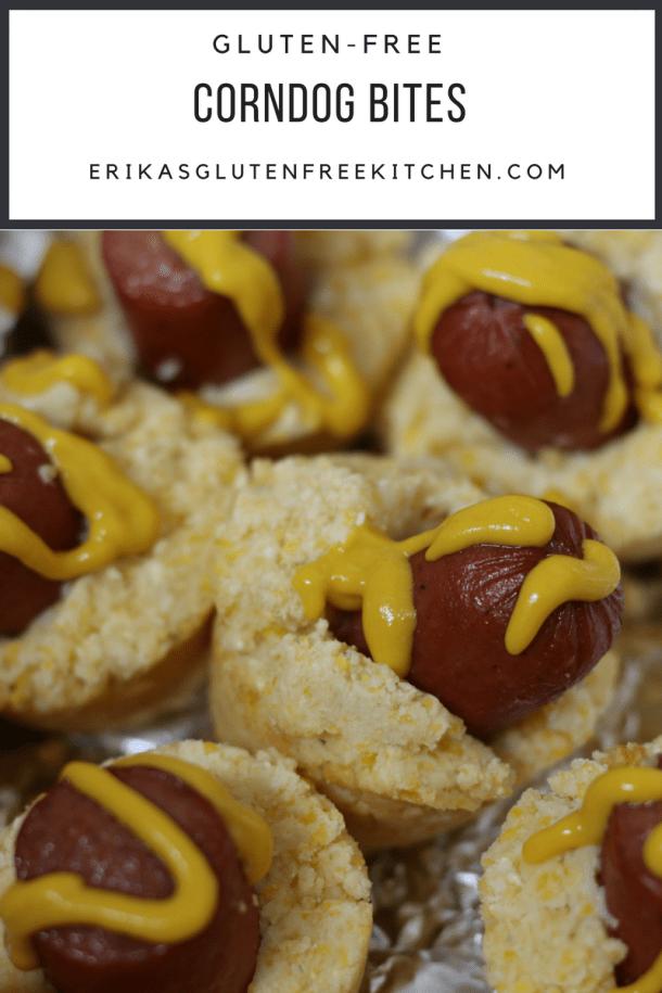 Gluten-free Corndog Bites | Erika's Gluten-free Kitchen www.erikasglutenfreekitchen.com