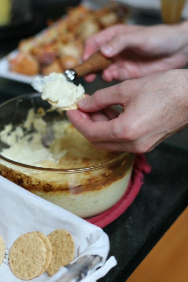 Gluten-free artichoke dip with low FODMAP variation. Erika's Gluten-free Kitchen www.erikasglutenfreekitchen.com