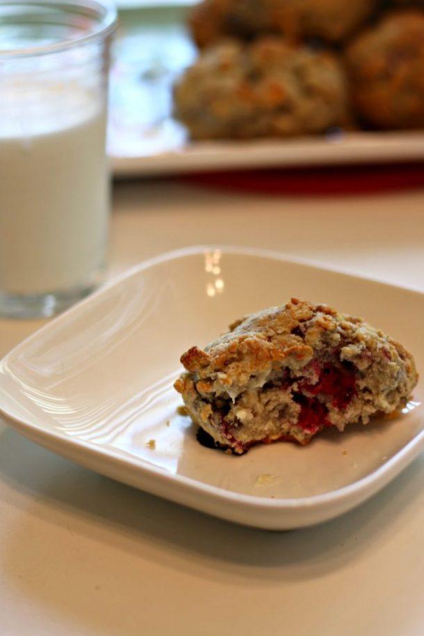 Gluten Free Raspberry And White Chocolate Scones Low Fodmap