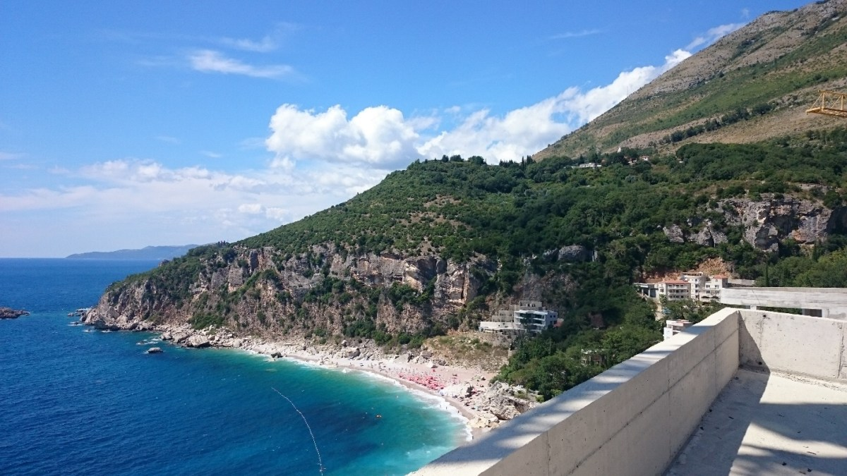 Petrovac, Montenegro - View from the Abandoned Hotel. PIC: JS