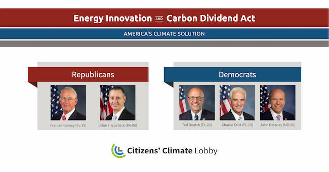 Congressional sponsors of Energy Innovation and Carbon Dividend Act