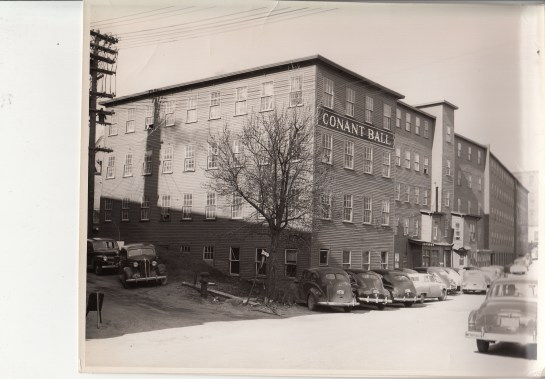 Conant Ball factory, 60 West Lynde and bound by West Lynde, Pine, Lake and Central Streets in Gardner, MA. Photo courtesy The Gardner Museum Inc., Gardner, MA.