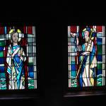 Stained glass designed by Dieterich Spahn in baptistry at St. Mary's Church, Little Falls, MN