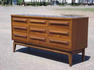 9-drawer low boy dresser refinished by Erik G. Warner