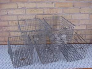 Wire gym baskets