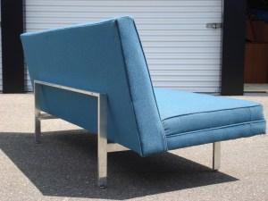Unmarked Mid Century Chrome Frame Sofa