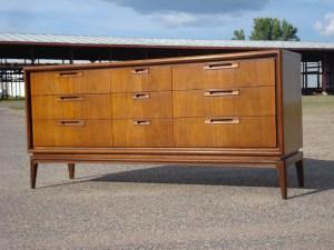 United Mid Century 9-drawer Dresser - Restored by Erik G. Warner