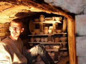 Erik Haugsby Potter Anagama Pottery Kiln