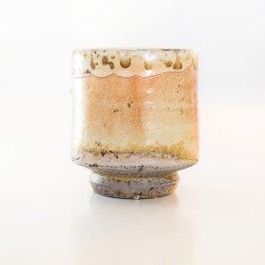 Erik Haugsby Tea Cup Shino Woodfired Handmade Pottery Ceramics