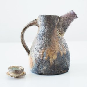 Erik Haugsby Teapot Wood ash Woodfired Celadon Handmade Pottery Ceramics