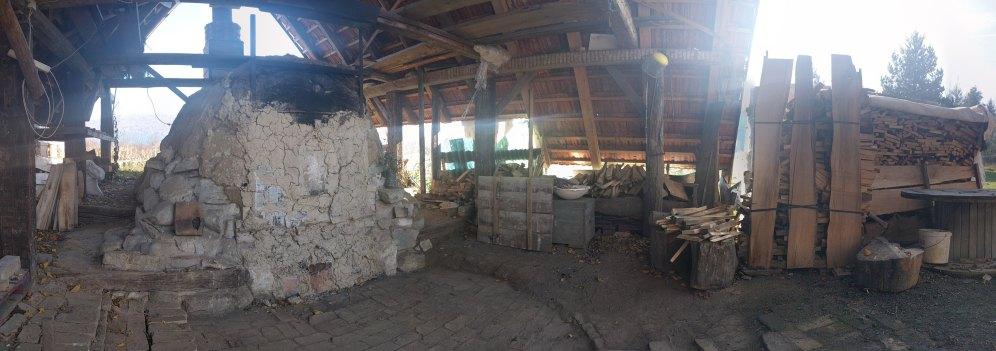 The Janagama kiln, cooled, waiting to be opened.