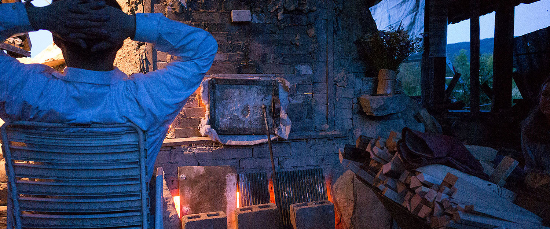 "Erik Haugsby Pottery firing the ""Janjagama"" Anagama kiln at Atelje Janja Gora"