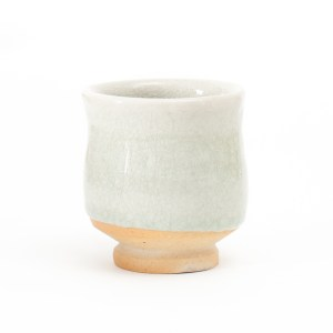 Erik Haugsby Handmade Pottery Yunomi Teacup Woodfired Celadon