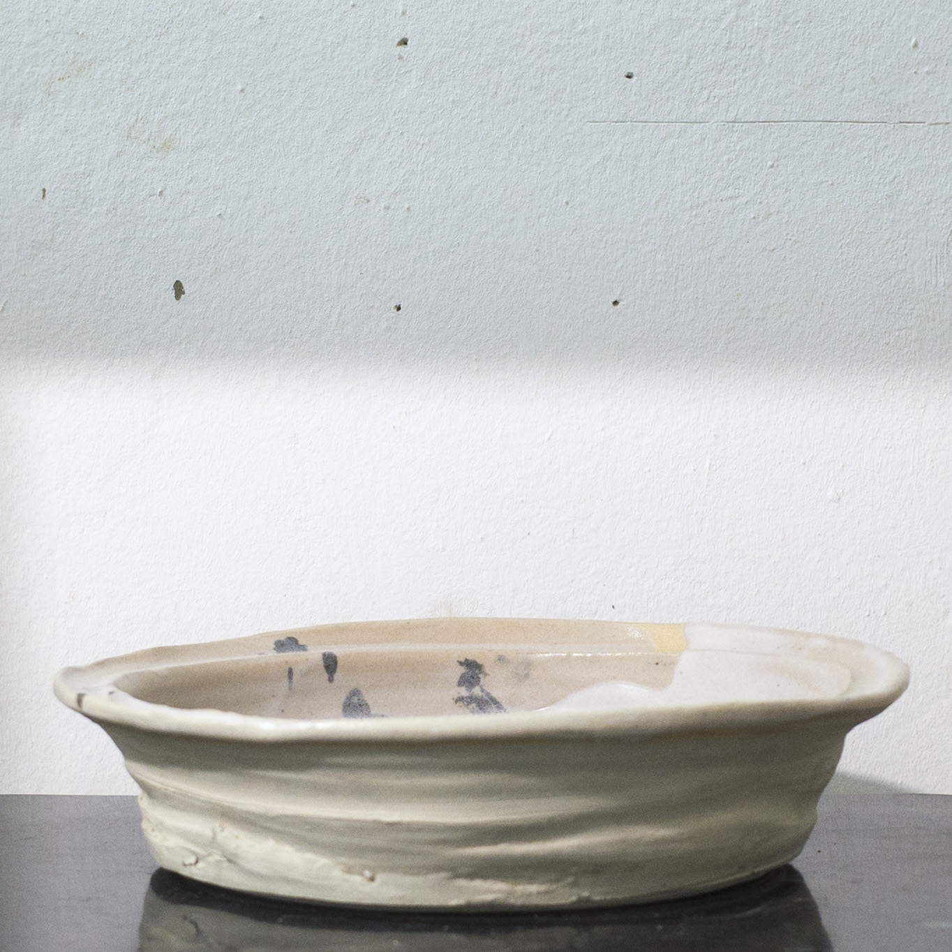 Erik Haugsby Pottery white ceramic large plate serving tray