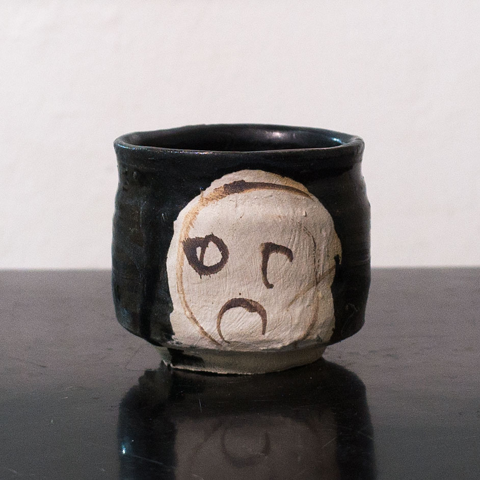 Erik Haugsby Pottery black kuro oribe tea cup yunomi handmade ceramics