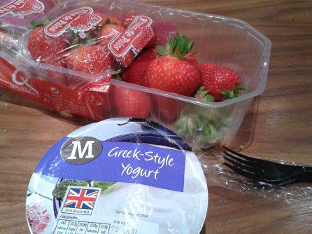 Strawberries & Greek yogurt