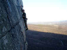 Bruce Althouse on the CCK in the Gunks