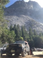 The vacation home parked beneath Glacier Point