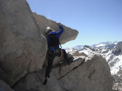 Erik Thatcher on the Summit of Cathedral Peak in Tuolumne Meadows