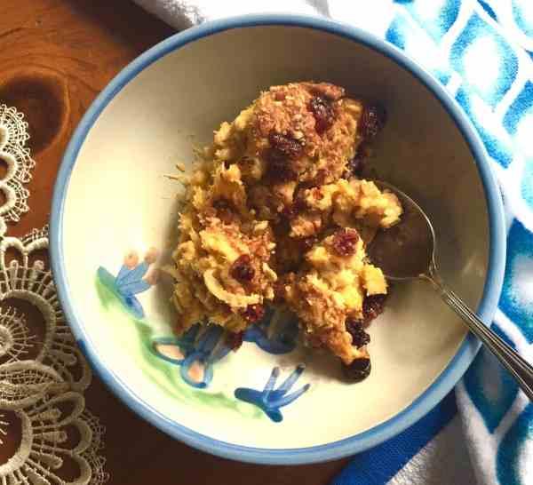 Acorn squash oatmeal